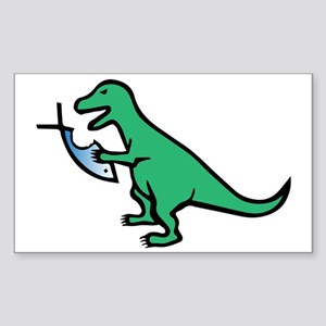 Atheism and T-Rex Sticker (Rectangle)